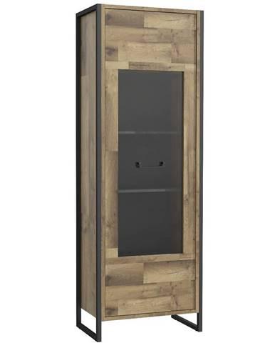 Vitrína Hud 70cm Beton/Dub Štípaný