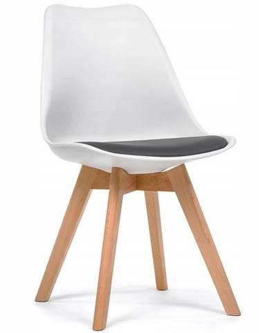 Židle Lugano Bílý/Šedá