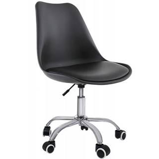 Otáčecí Židle Milano Černý