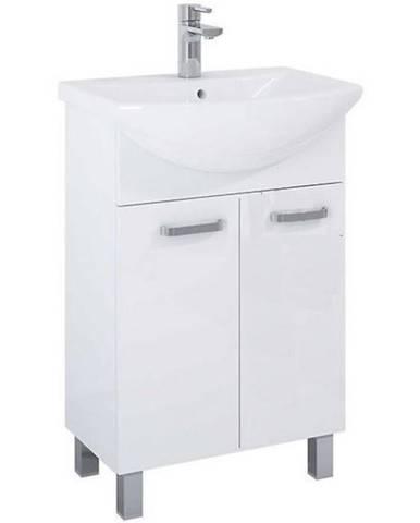 Skříňka s umyvadlem a baterií bílá Uno 2D0S 60