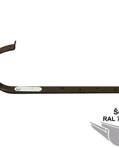 Kovový hák rovný rg 100  šedá