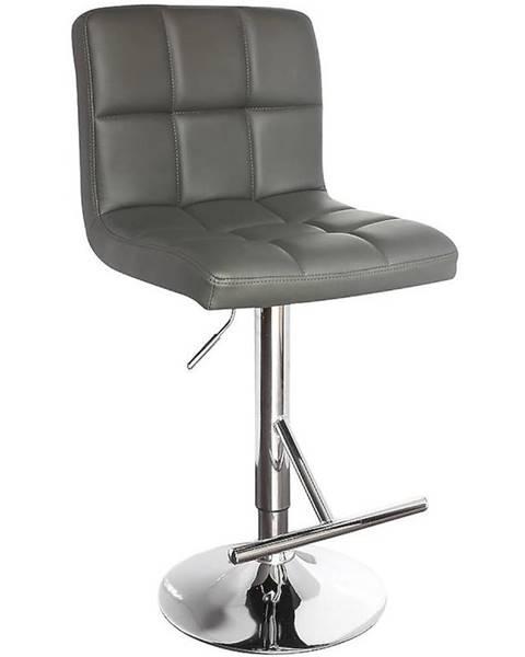 BAUMAX Barová židle Bruno šedá 7142