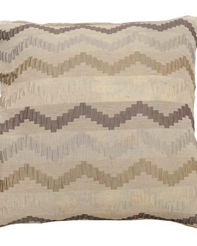 Povlak x433  hnědý/krémový zyg-zak
