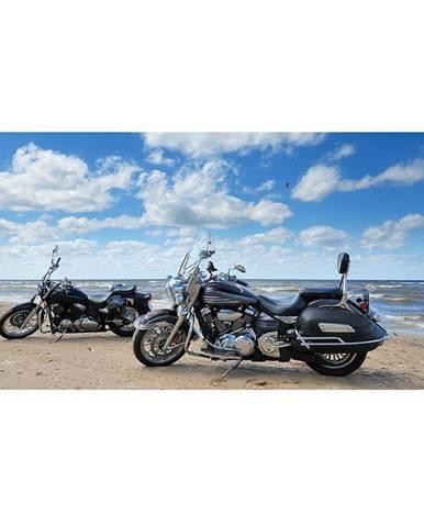 Dekor skleněný - motocykly na pláži 30/60