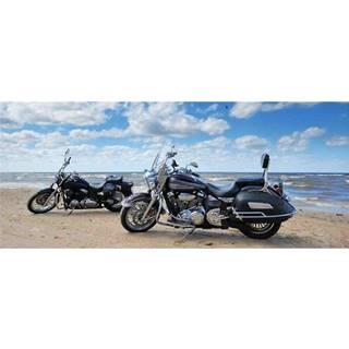 Dekor skleněný - motocykly na pláži 20/50