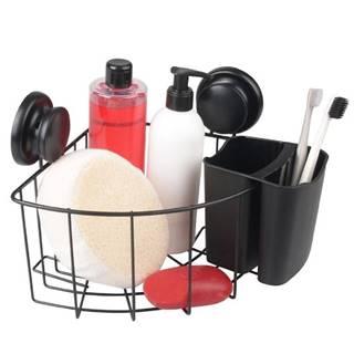 Košík rohový+ Košík PVC Gavi černý