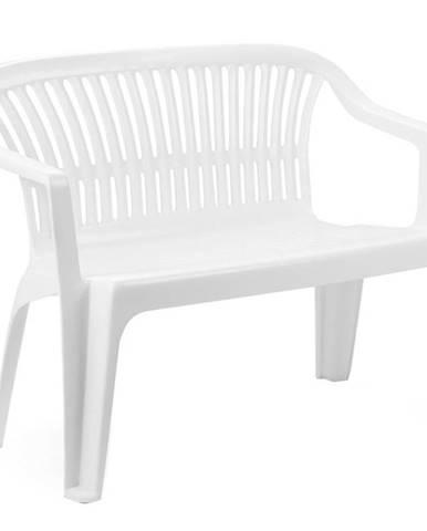 Plastová bílá lavička Diva bílá 89100