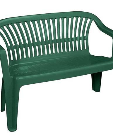 Plastová zelená lavička