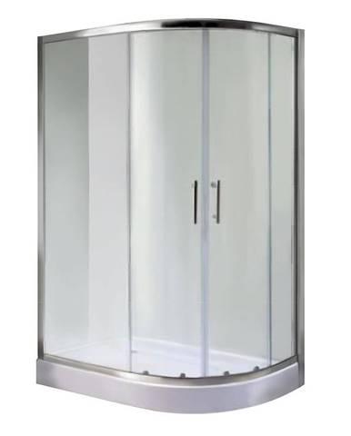 Sprchový kout čtvrtkruhový a1900t 80/100/185 grafit l/p