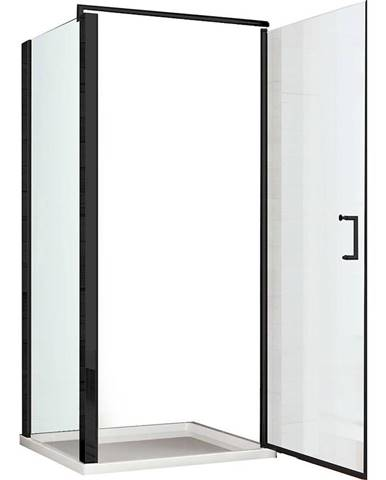 Sprchový kout Atena 90X90X190 černý profil