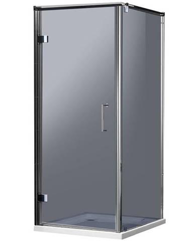 Sprchový kout čtvercový Maja 90x90x190 grafitové-chrom