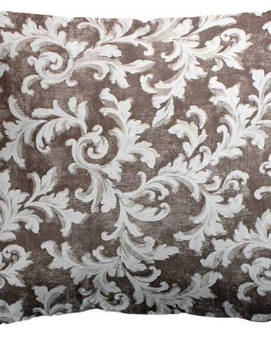 Polštář Ferro s Výplní, hnědobílá 40x40 cm