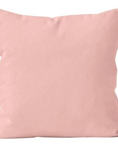 Polštář jednobarevný s výplní, sv. růžová, (304) 40x40