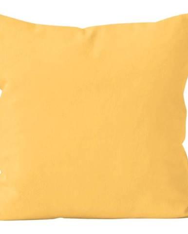 Polštář jednobarevný s výplní, žlutá,(201) 40x40 cm