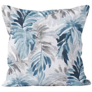 Polštář Tropical Forest s Výplní, modrobílá, 40x40 cm