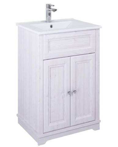 Skříňka s umyvadlem bílá Retro 2D0S 60