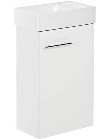 Skříňka s umyvadlem bílá Smart 1D0S 40