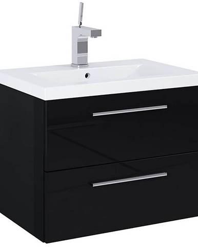 Skříňka s umyvadlem černá Boa Vista 0D2S 60 nožičky