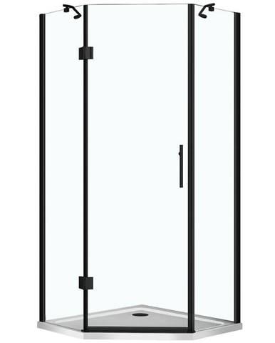Sprchový kout pětiúhelník Verdi black 90/90/185 čiré sk