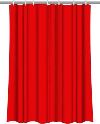Sprchový závěs Star 180x200 červený