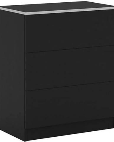 Komoda Vista 80 cm Černá