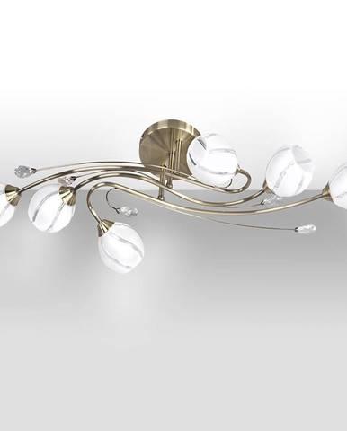 Závěsné svítidlo Alanis 6xE14 40W patina/bílá