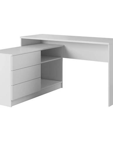 Psací Stůl Teo 139cm Bílá