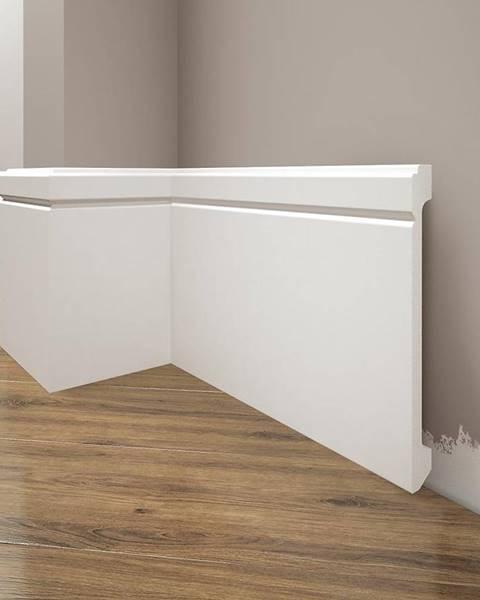 CREATIVA BY CEZAR Podlahová lišta Elegance LPC-30-101 bílá mat