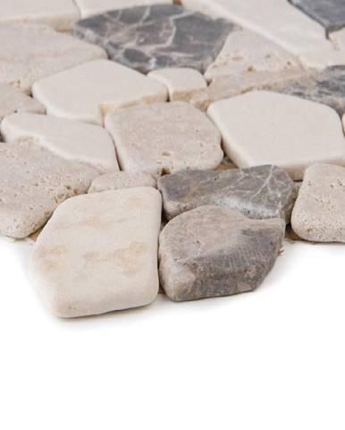 Mozaika Poly biancone,travertin/marron Emperado 51632 30,5x30,5