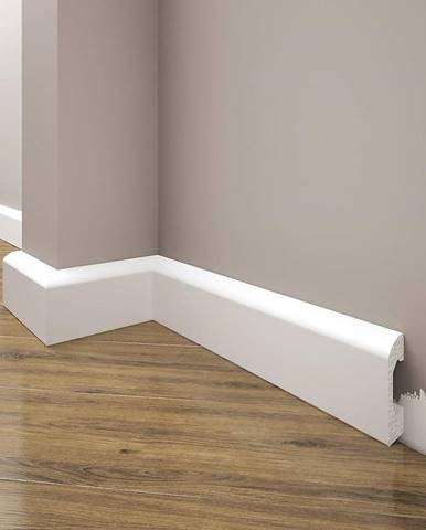 Podlahová lišta Elegance LPC-04-101 bílá mat