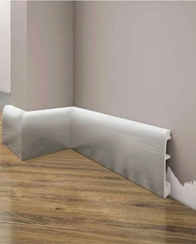 Podlahová lišta Elegance LPC-06-148 stříbrný kartáčovaný