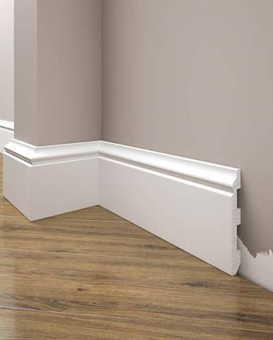 Podlahová lišta Elegance LPC-07-101 bílá mat