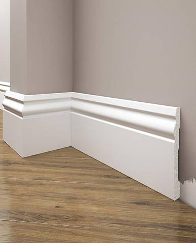Podlahová lišta Elegance LPC-08-T101 bílá satén