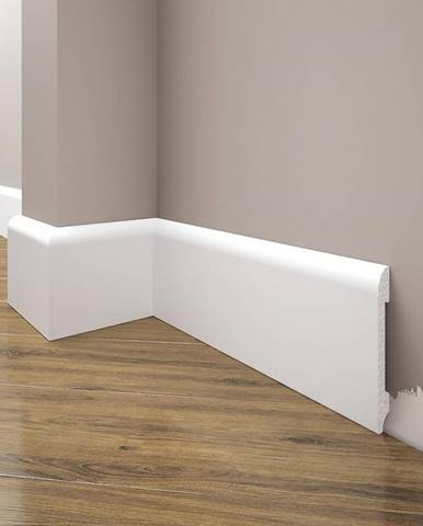 Podlahová lišta Elegance LPC-11-101 bílá mat
