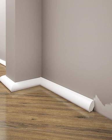 Podlahová lišta Elegance LPC-12-101 bílá mat
