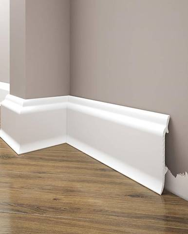 Podlahová lišta Elegance LPC-16-T101 bílá satén