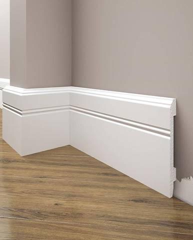 Podlahová lišta Elegance LPC-18-101 bílá mat
