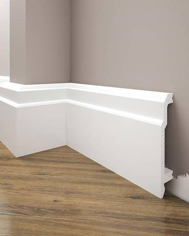 Podlahová lišta Elegance LPC-26-101 bílá mat