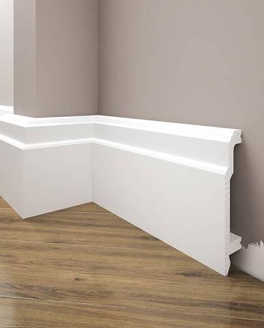 Podlahová lišta Elegance LPC-26-T101 bílá satén