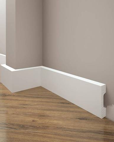 Podlahová lišta Elegance LPC-27-T101 bílá satén