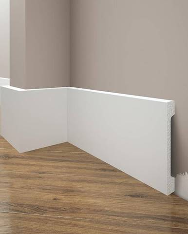 Podlahová lišta Elegance LPC-29-101 bílá mat