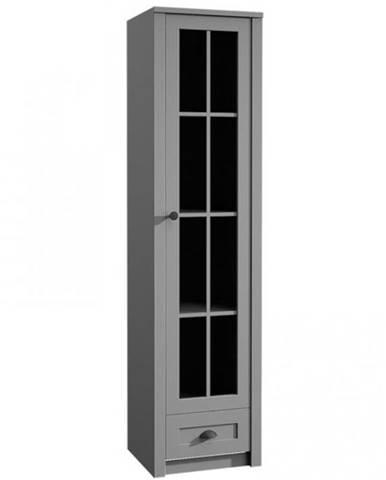 Vitrína Prowansja 50cm Grey, W1S