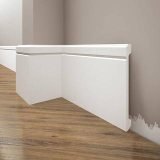 Podlahová lišta Elegance LPC-30-101 bílá mat
