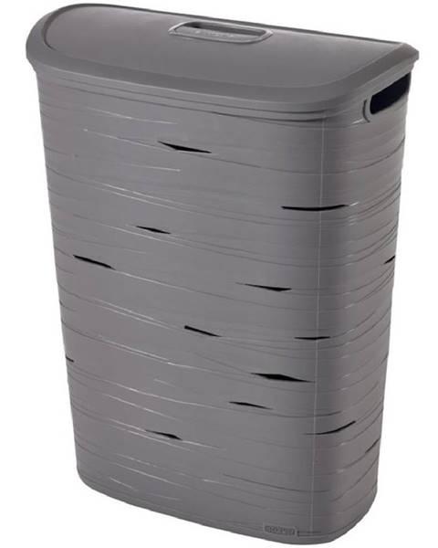 BAUMAX Prádelní koš Ribbon 49l 221814 šedý