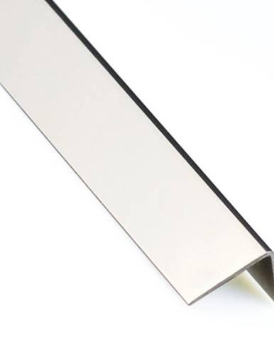 Rohový Profil Samolepící  PVC Inox Mat 19,5x19,5x1000