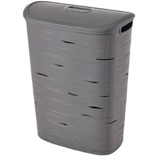 Prádelní koš Ribbon 49l 221814 šedý