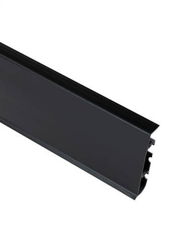 Podlahová lišta Hi-Line Prestige 90 černá