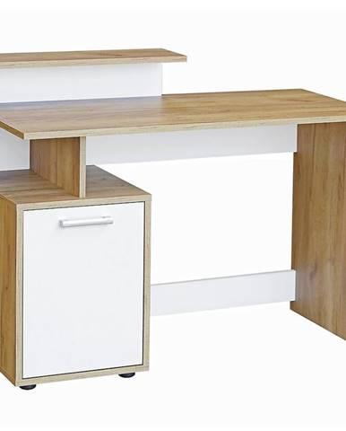 Psací Stůl 113cm Craft Zlatý/Bílá