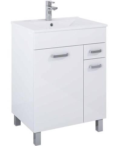 Skříňka s umyvadlem bílá Uno 2D1S 60