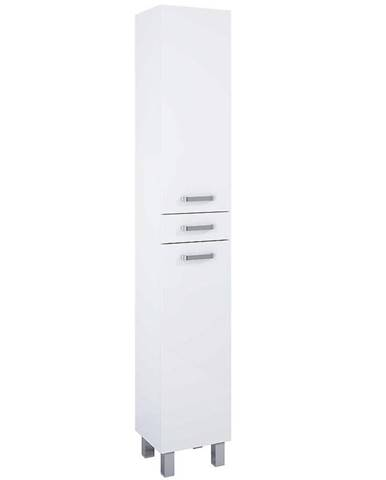 Vysoká skříňka bílá Uno 2D1S 30